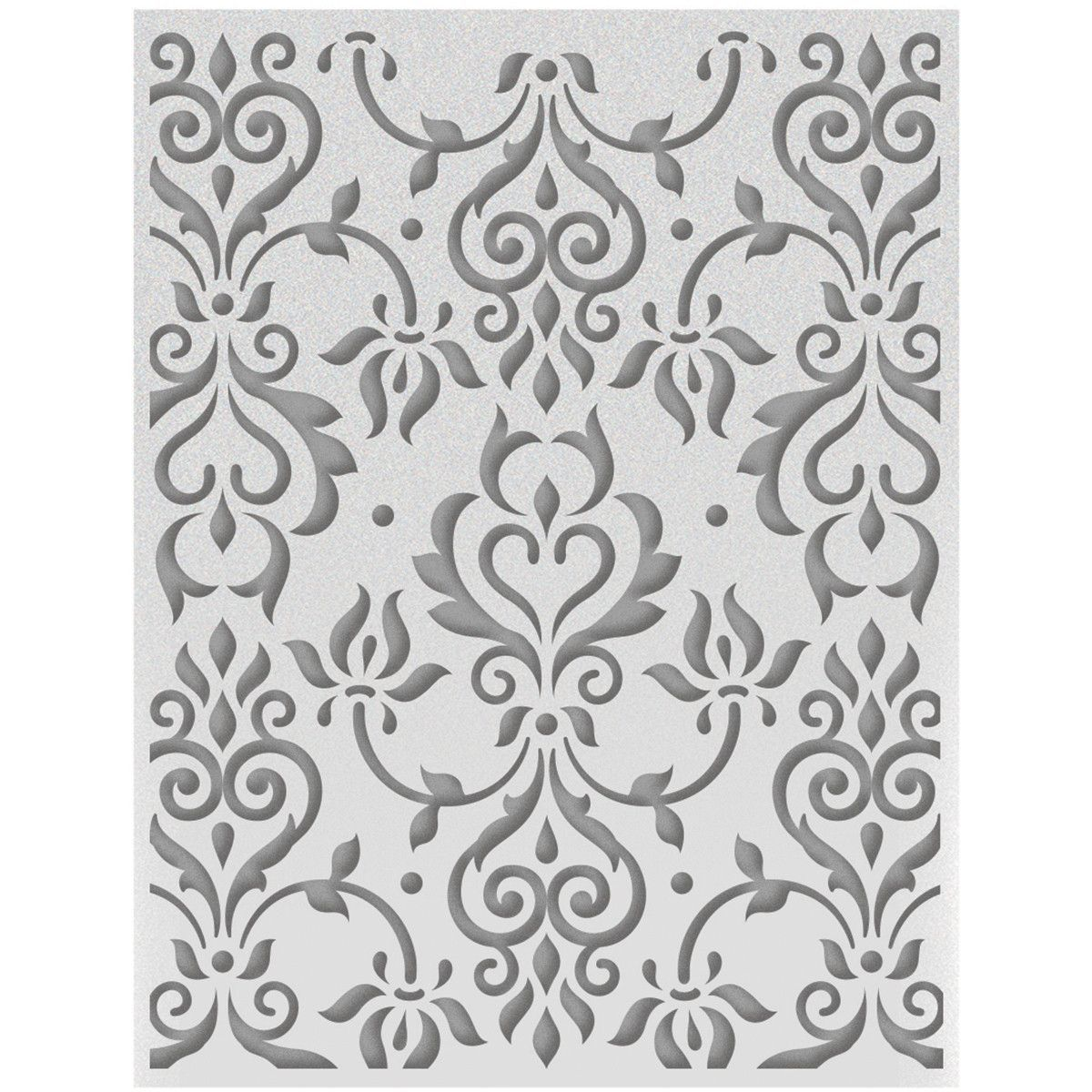 Ultimate Crafts Ooh La La A2 Embossing Folder - Zephyr Flourish