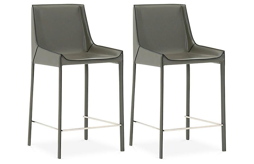Set Of 2 Handsel Counter Stools Cappuccino Counter Stools Bar