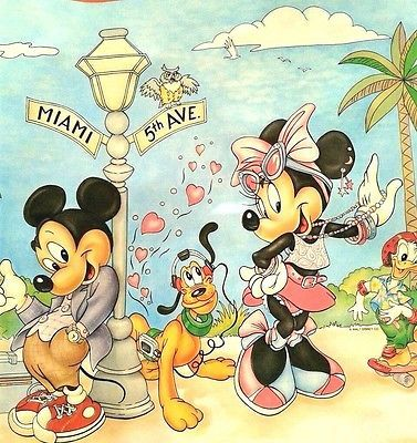 Vintage Disney Wallpaper Border Mickey Minnie Mouse Donald