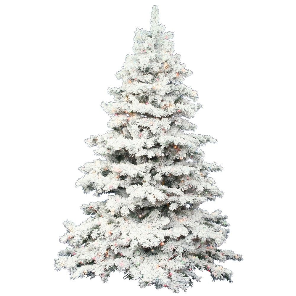 42++ Flocked christmas tree with lights inspirations
