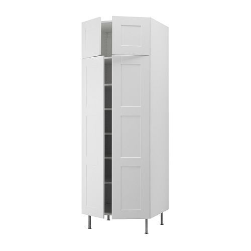 AKURUM High cabinet with shelves/4 doors IKEA You can customize spacing as needed because the shelf is adjustable.  sc 1 st  Pinterest & AKURUM High cabinet with shelves/4 doors IKEA You can customize ...
