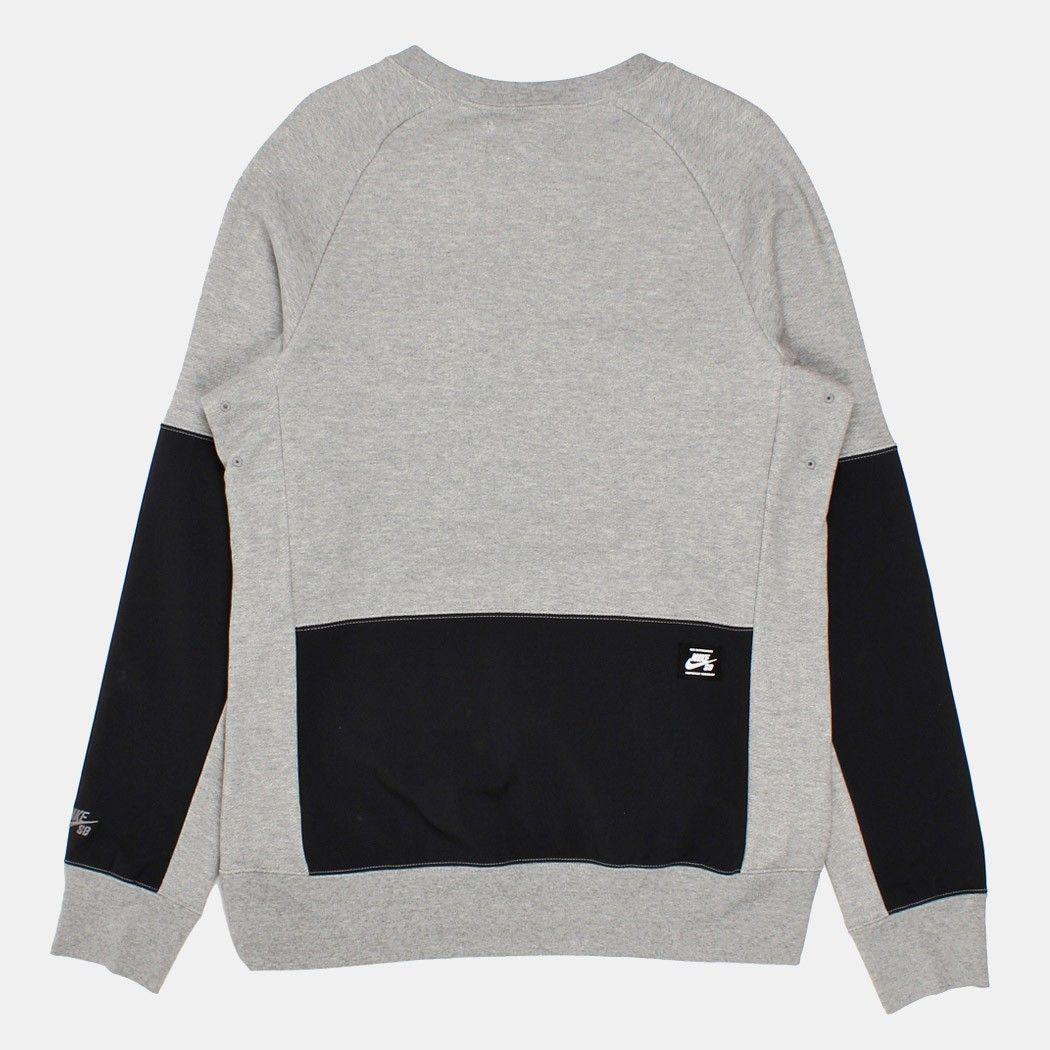 Buy Nike Sb Everett Overlay Pocket Crewneck Sweatshirt Dark Grey Heather Black From Urban Industry Mens Fashion Casual Wear Heather Black Sweatshirts [ 1050 x 1050 Pixel ]