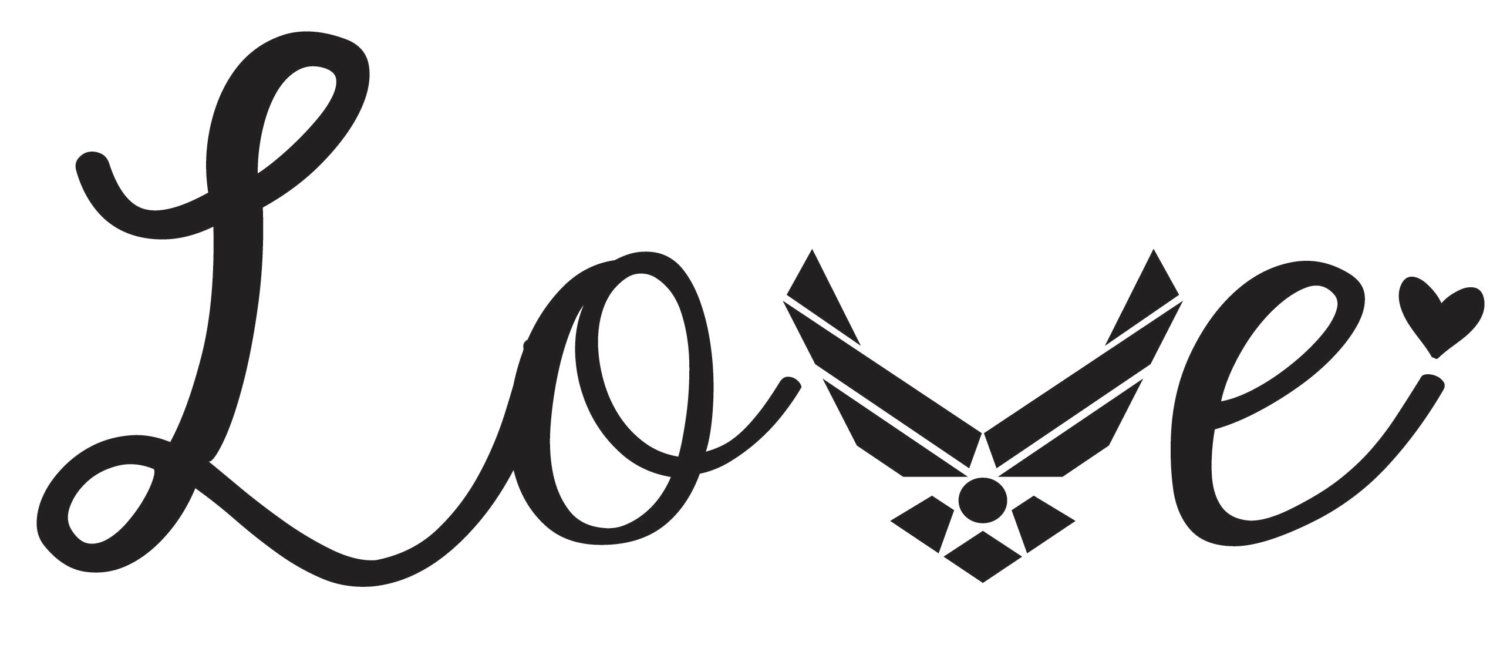 Download air force love window sticker decal military by ...