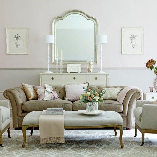 Nude-getönten Wohnzimmer Wohnideen Living Ideas Interiors Decoration