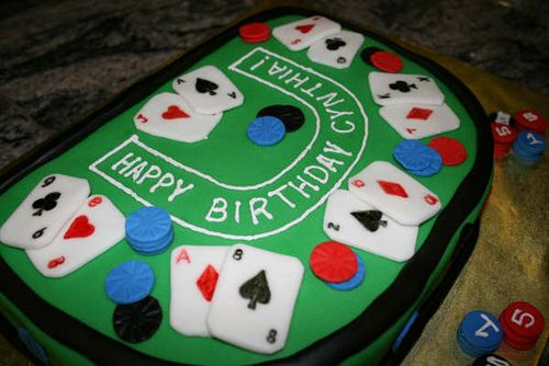 Blackjack Table Cake By Annette Starbuck Via Flickr Blackjack Gambling Gift Gambling Party