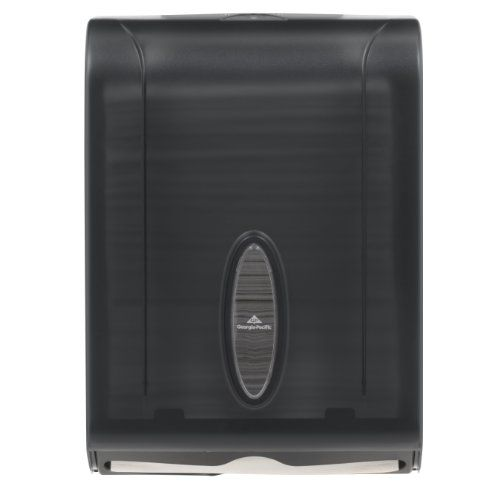 """Georgia-Pacific Gp 56650/01 Translucent Smoke Combination C-Fold Or Multifold Paper Towel Dispenser, 11"""" Width X 15.4"""" Height X 5.25"""" Depth, 2015 Amazon Top Rated Countertop & Wall Organization #BISS"""
