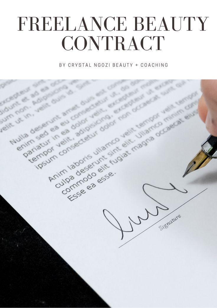 Freelance Makeup Artist Contract