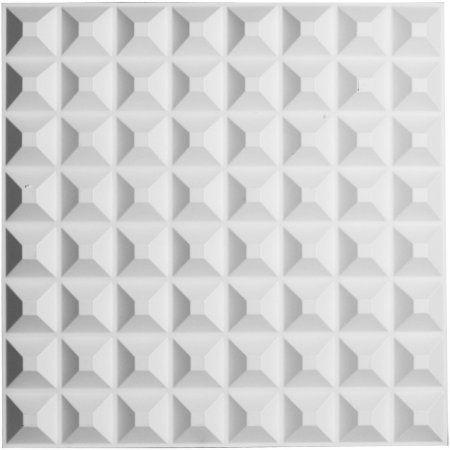 19 5/8 inchW x 19 5/8 inchH Bradford EnduraWall Decorative 3D Wall Panel, White