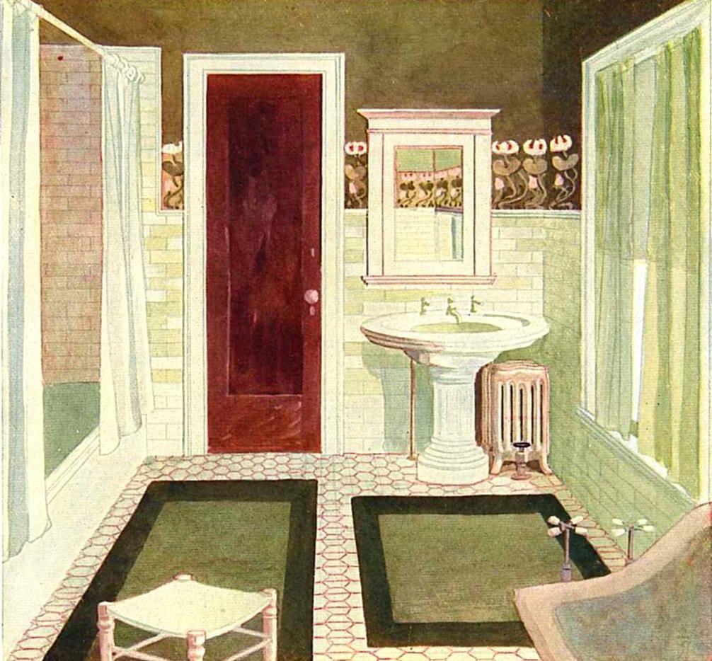 Bathroom Art Nouveau: Arts & Crafts Bath C.1905 Sometimes Old Advertisements Are