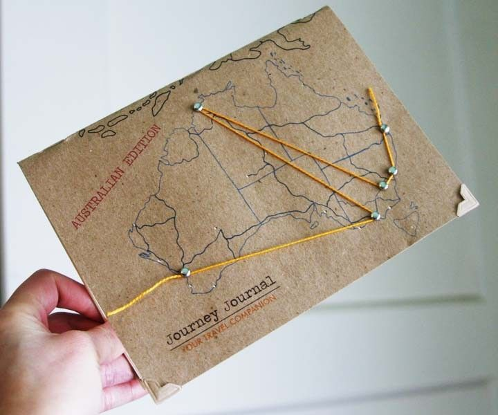 Journey Journal via Etsy – Totally making one of these (U.S. version) for the cross-country road trip