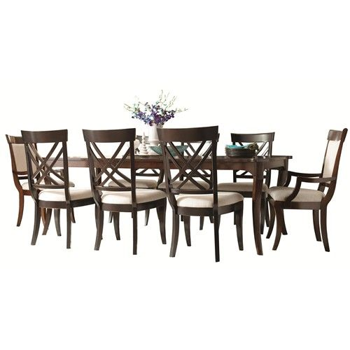 HGTV Home Furniture Collection Modern Heritage 8 Person Dining