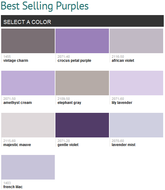 Best Selling Colors Benjamin Moore Violet Paint Colors Violet Paint Bedroom Colors Purple