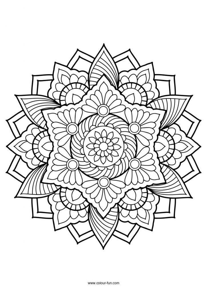 Mandala A Imprimer Gratuitement Difficile En 2020 Coloriage Mandala Mandala A Colorier Mandala