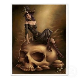 Halloween Witch Canvas Print print