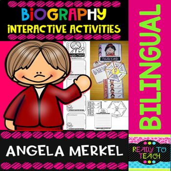 ENGLISH VERSIONYou will find a set of 4 different tasks to work on the biographies of Angela Merkel. There are 4 interactive activities to be done:Interactive Task 1: Students have to search facts about the biography of this famous person and write those facts related to his/her early and family li...