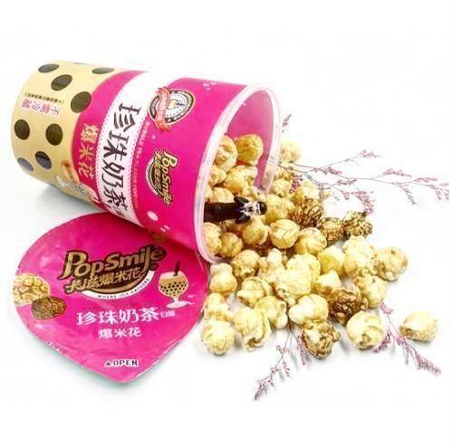Pop Smile Bubble Tea Popcorn Bubble tea, Asian snacks
