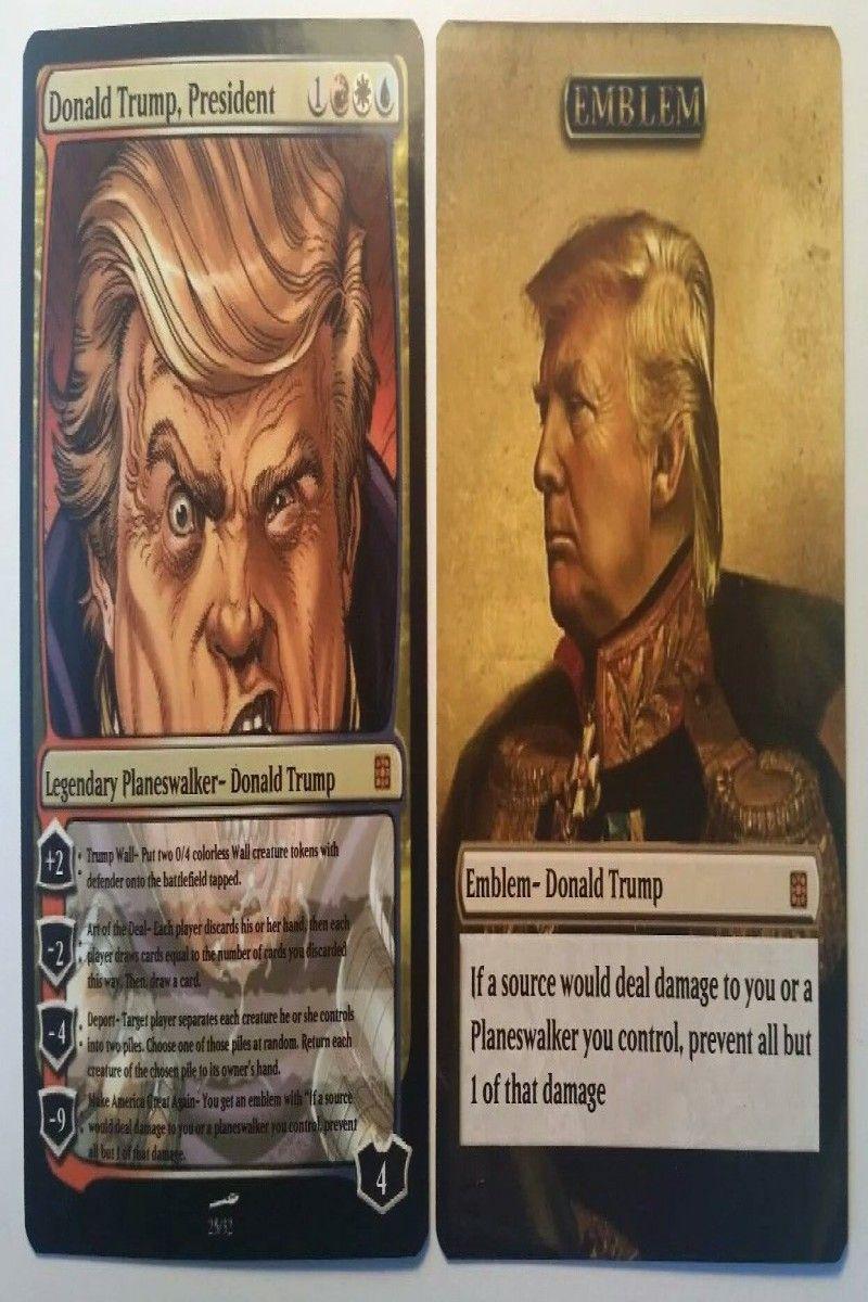 Donald Trump American President Magic The Gathering MTG card Planeswalker