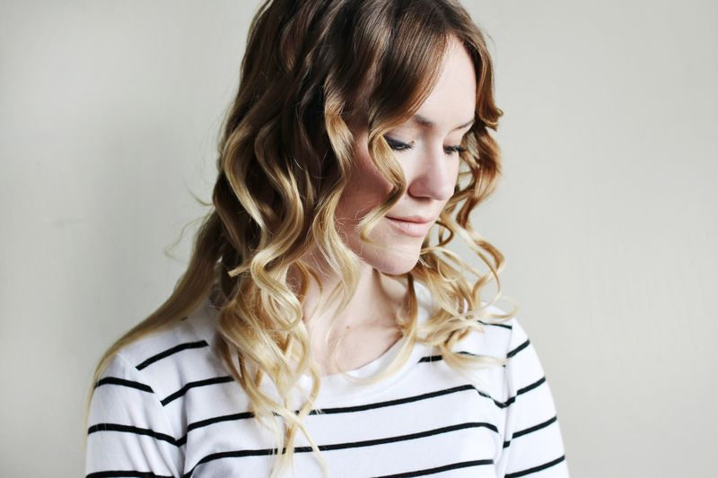 How To Style Flat Iron Curls - A Beautiful Mess