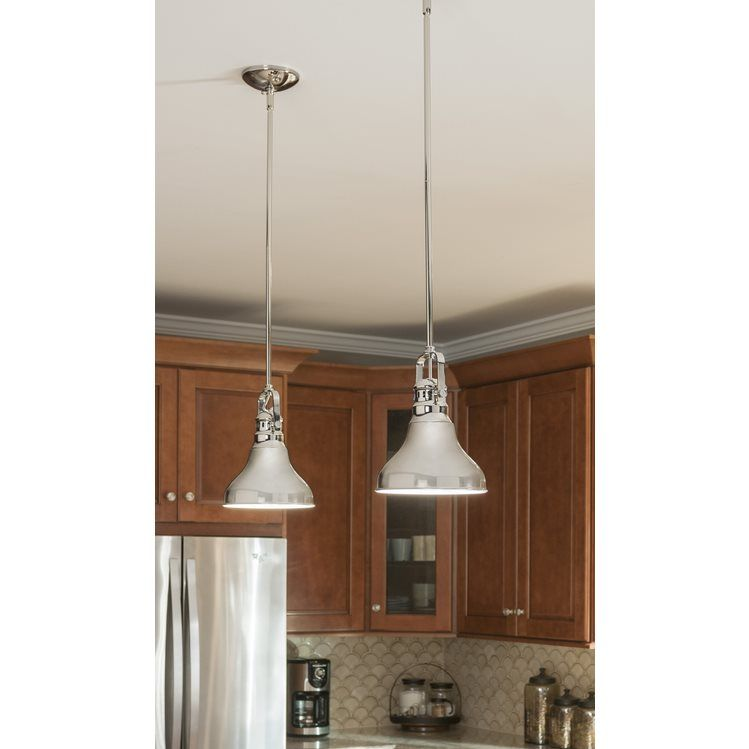 Allen roth 81 in w polished nickel mini pendant light with metal allen roth 81 in w polished nickel mini pendant light with metal shade aloadofball Choice Image