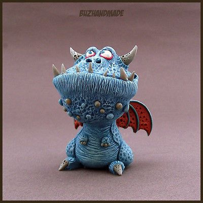 DRAGON number #21 | Dragon Collection | Polymer Clay | BUZHANDMADE
