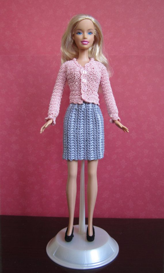 Fashion Dollbarbie Office Ensemble By Mcraftcreations Crochet And
