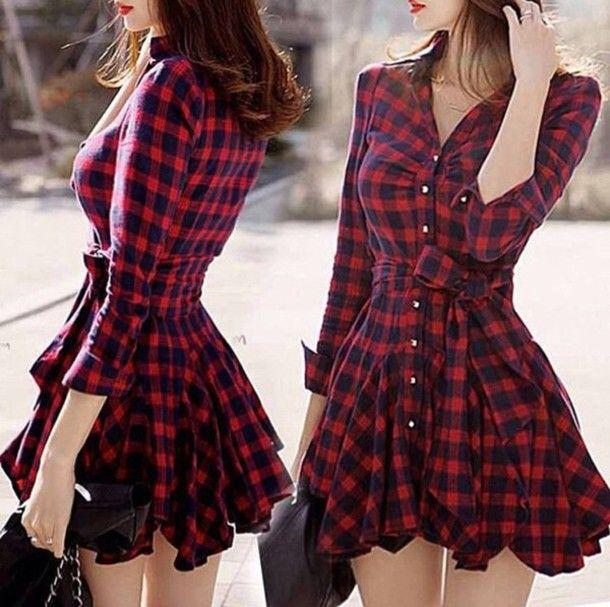Veste carreaux rouge et noir femme