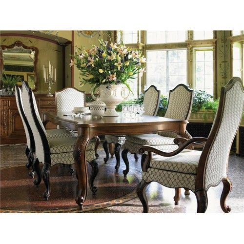At Home In Belle Maison Table For Royals With Two Leavesdrexel Enchanting Drexel Heritage Dining Room 2018