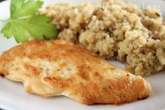 Low-FODMAP Creamy Parmesan Chicken  1/3 cup mayo 1/4 cup Parmesan cheese Salt and pepper One clove of garlic minced Chicken  Cook at 375F for 35-40mins