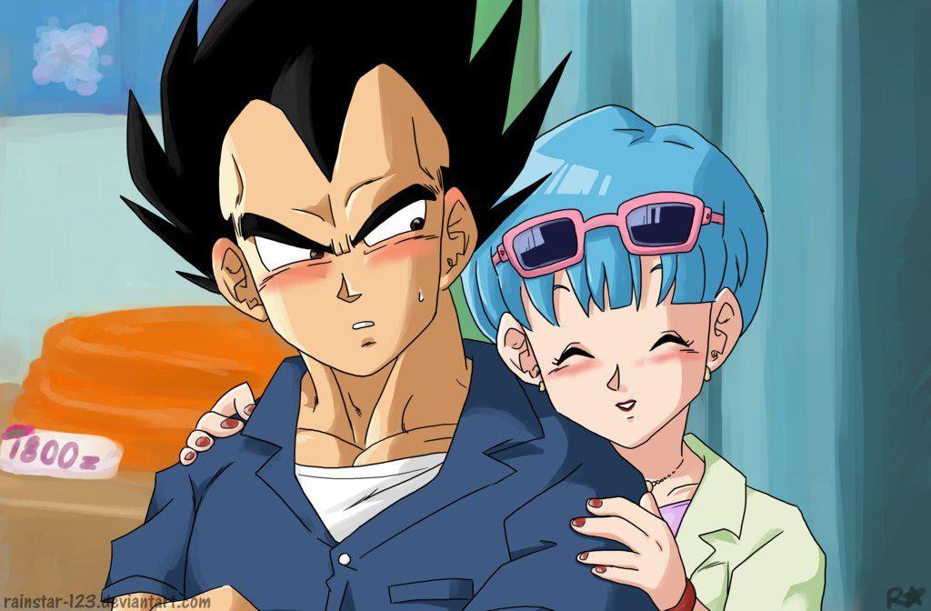Vegeta And Bulma Only They Weren T Blushing In This Scene Anime Dragon Ball Vegeta And Bulma Dragon Ball Super Art