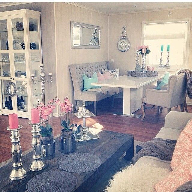 Cute Room Living Room: Ok Im In Love With The Dining Area And The Tufted Bench