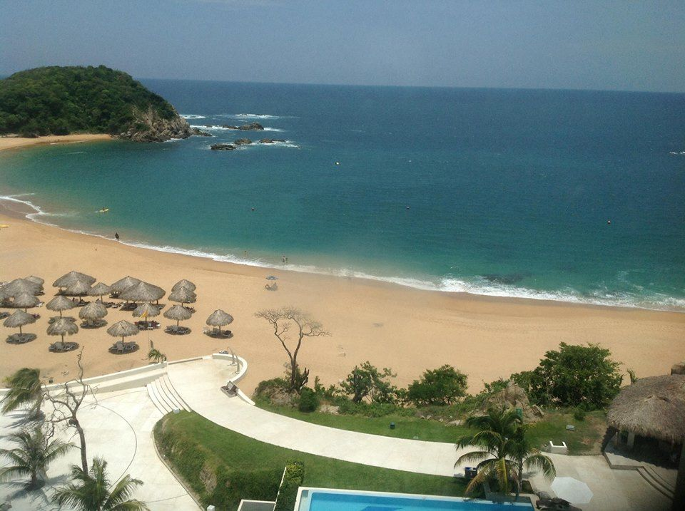 The blissful beach of Secrets Huatulco Resort & Spa