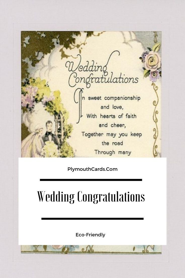 Wedding Congratulations Card Give the new Bride and Groom well wishes with our Ecofriendly reproduced Vintage postcards Its unique and a gift they can frame forever Click...