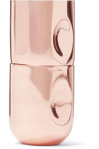 Tom Dixon - Plum Set Of Four Copper-plated Shot Glasses