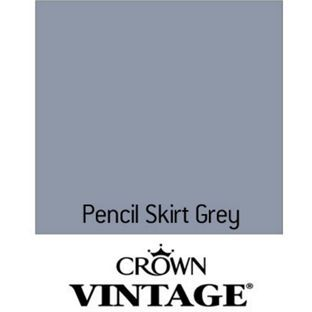 Crown Vintage Flat Matt Emulsion Paint Pencil Skirt Grey