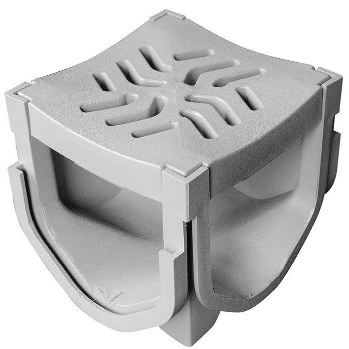 Source 1 Drainage S1e Plquad Quad Connector Channel Drain