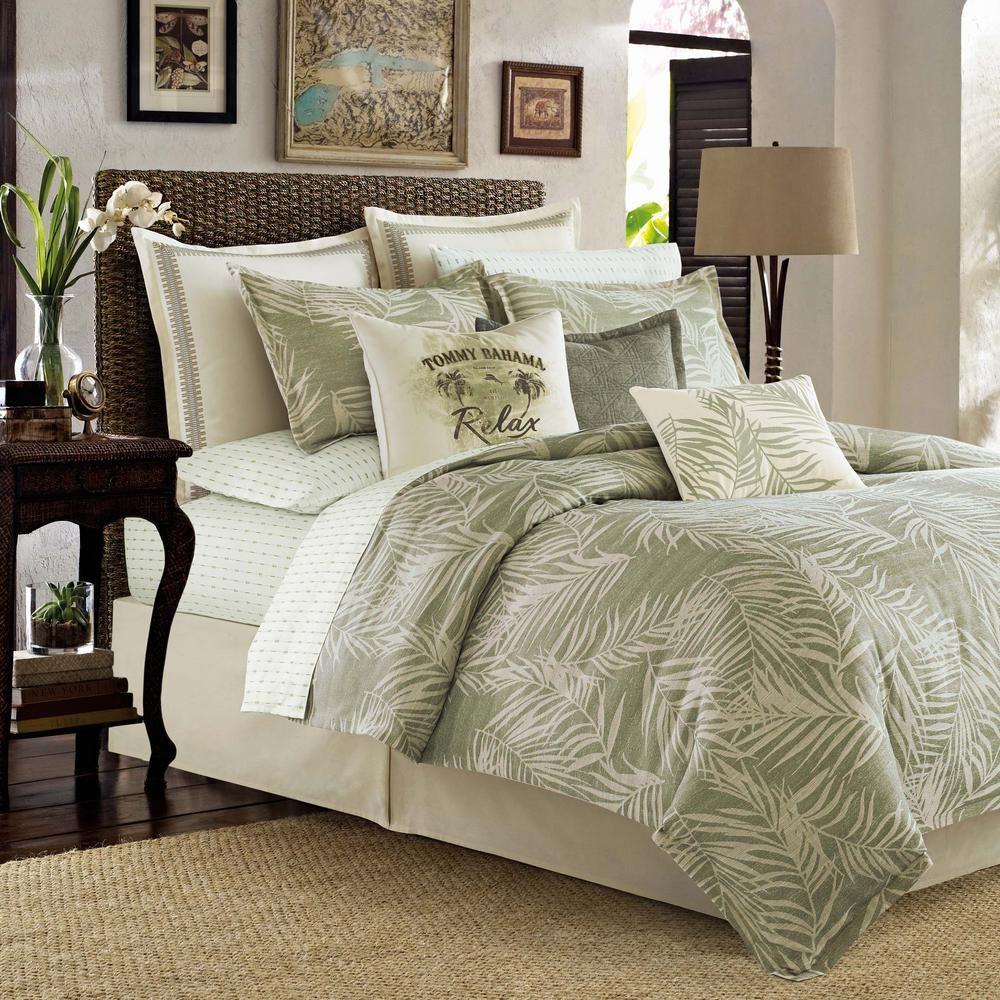 Tommy Bahama Palms 4 Piece Green California King Comforter Set