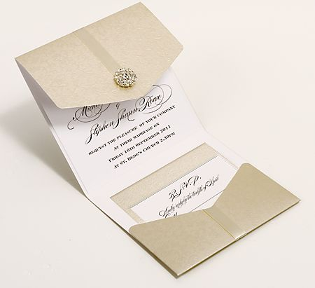 Antique Pearlescent Wedding Invitations UK