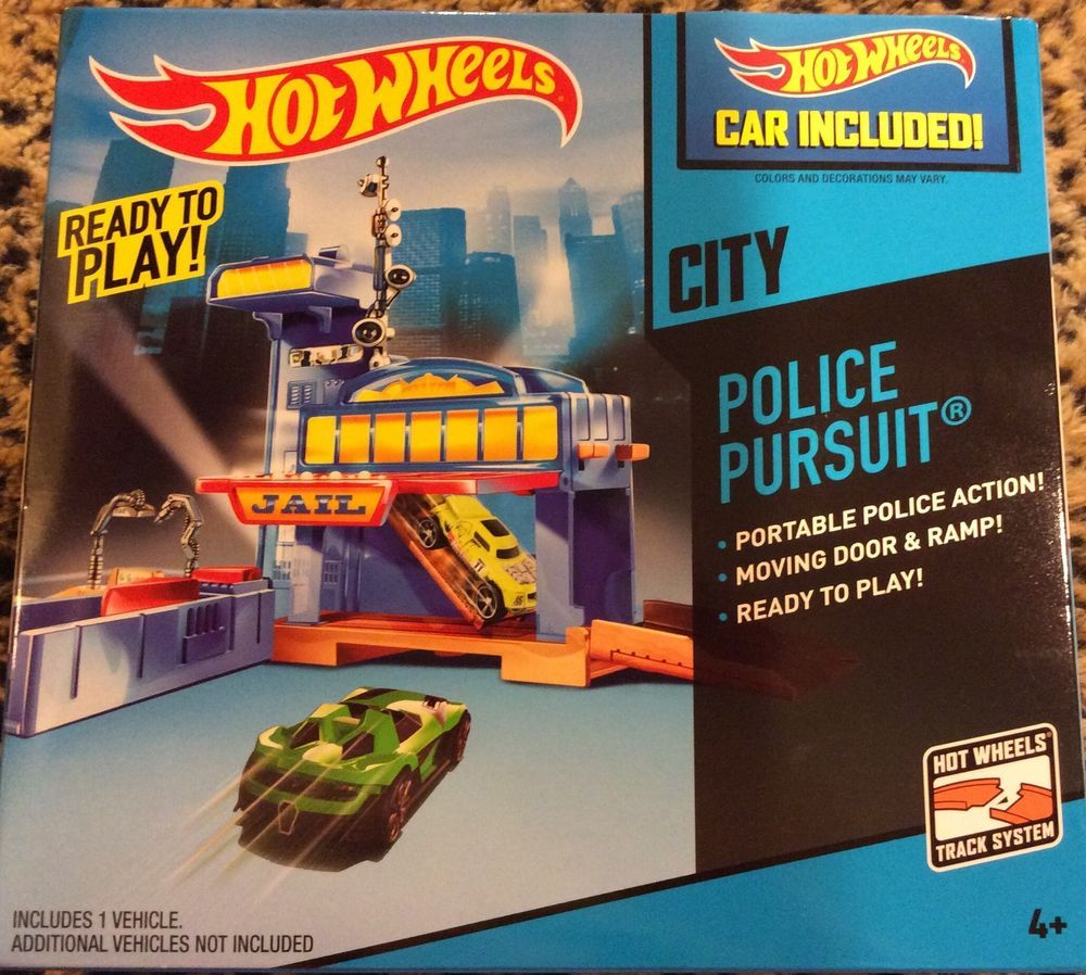 2014 HOT WHEELS  City POLICE PURSUIT  Car included (READY TO PLAY!)