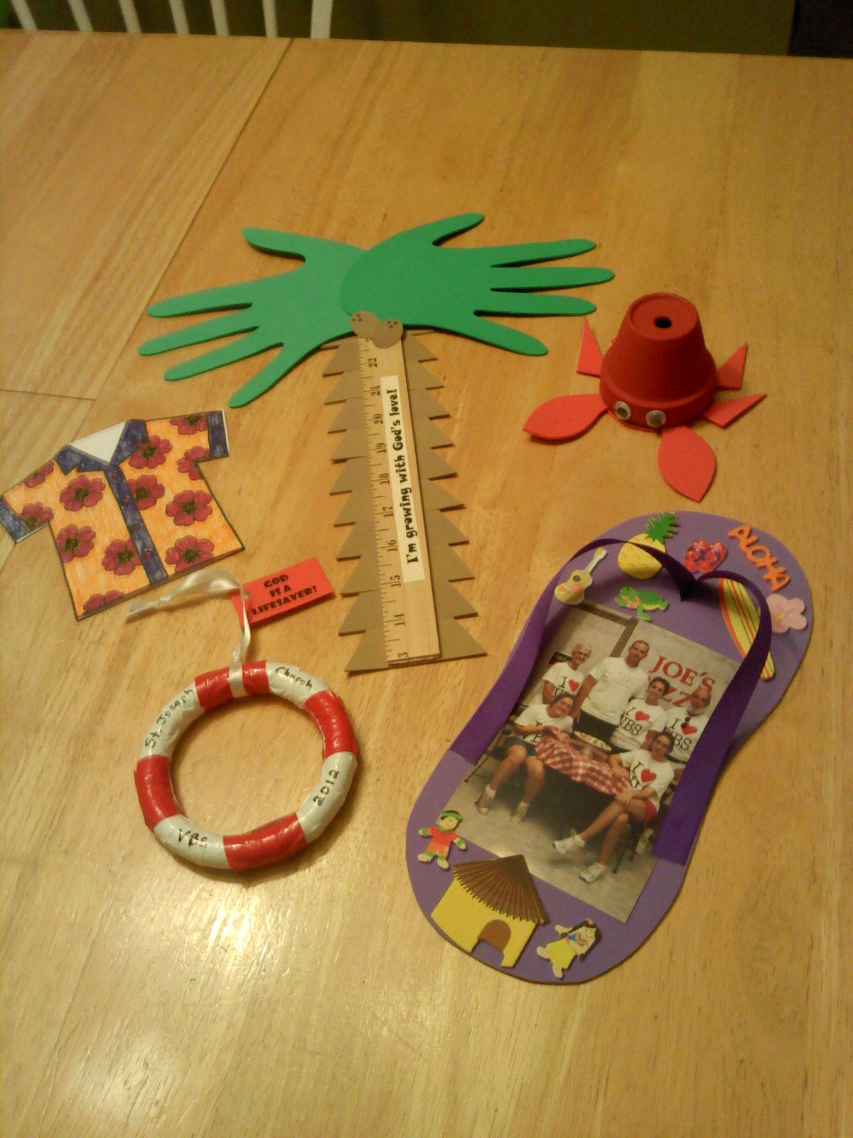 Island themed vacation bible school crafts crazy crafty for Pinterest bible crafts