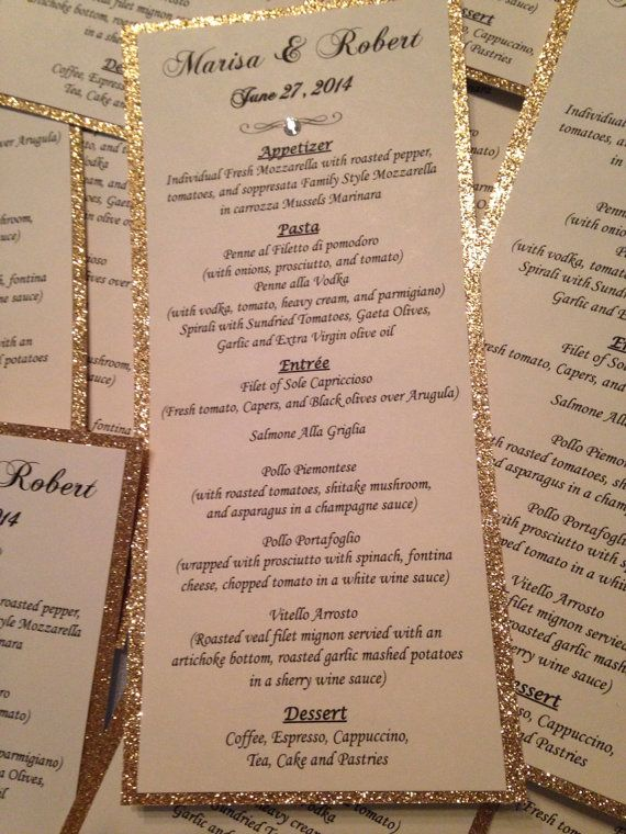 Glitter Monogrammed Programs  Personalized Wedding Or Special