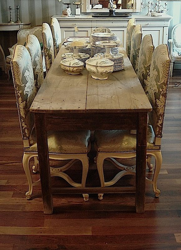 Long Narrow Dining Table Table In Pine Wood Original Grey