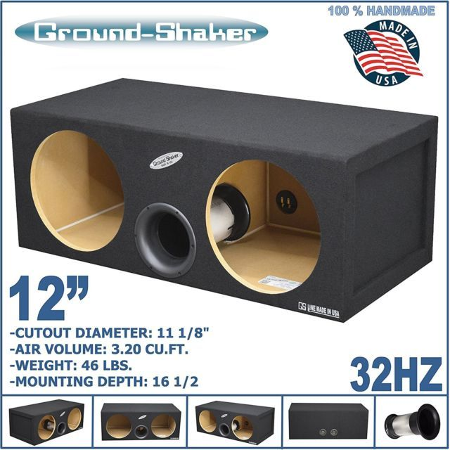 12 Dual Vented Sub Box Aero Port Tube Ported Tuned 32 Hz 3 20 Cu Ft Mdf Musica