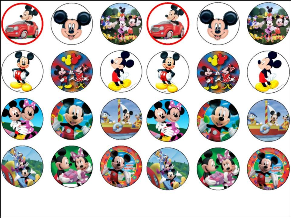 Mickey Mouse Clubhouse Cupcake Toppers Printable cakepins ... Mickey Mouse Cupcake Toppers Printable