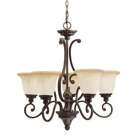 Portfolio 5 Light Lola Golden Bronze Chandelier 4375 ChandelierLowesDining