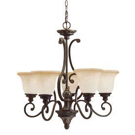 Shop Kichler Lighting Diana 5 Light Olde Bronze Chandelier At