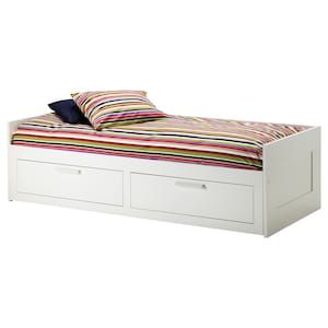 Brimnes Daybed With 2 Drawers 2 Mattresses White Minnesund Firm