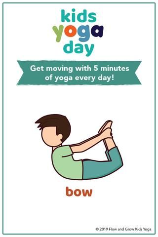 kids yoga day sequence free poster in 2020  yoga for