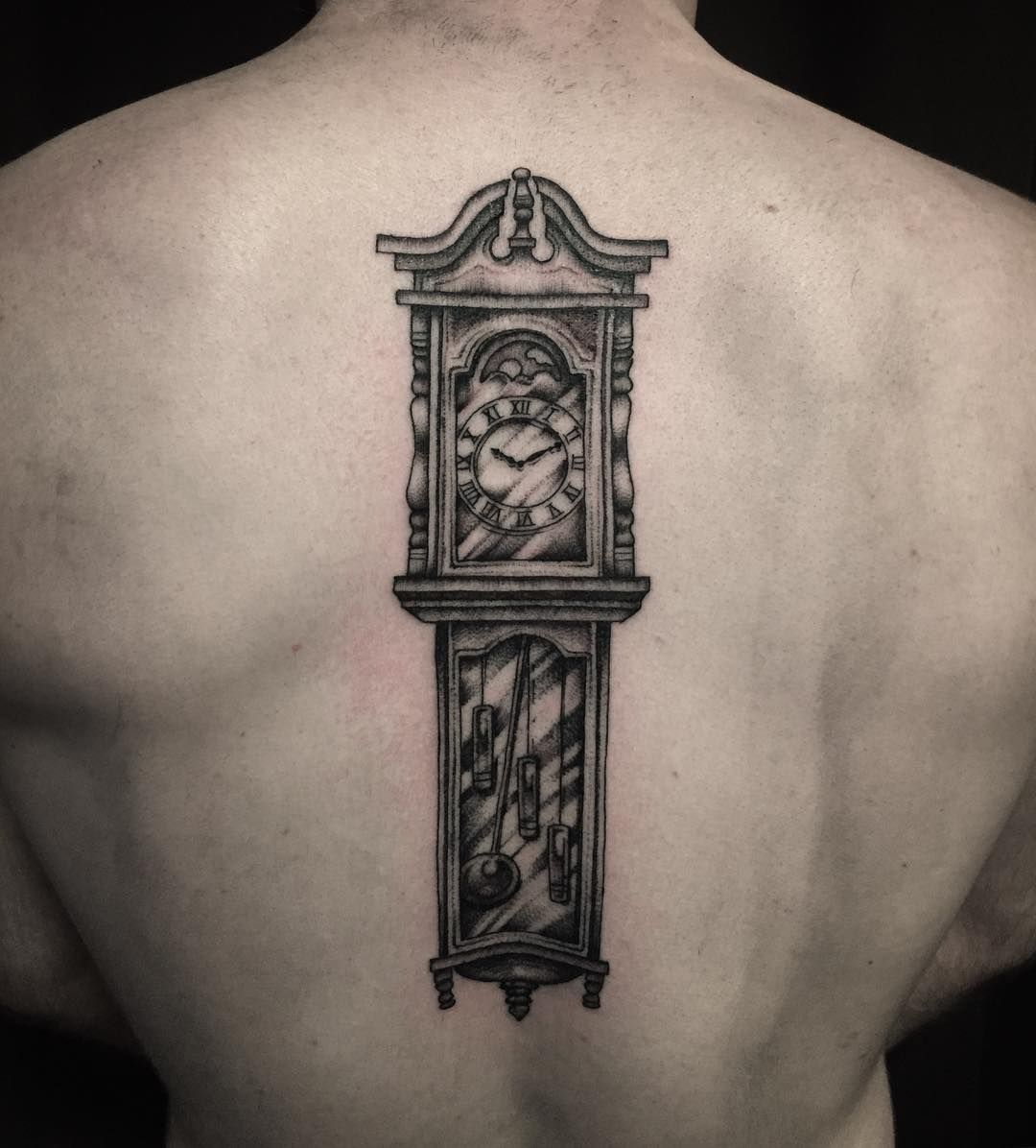 Ben S Grandfather Had 85 Grandfather Clocks In His House I Have Time Today Before 6 Allied Tat Grandfather Clock Tattoo Grandfather Clock Grandfather Tattoo