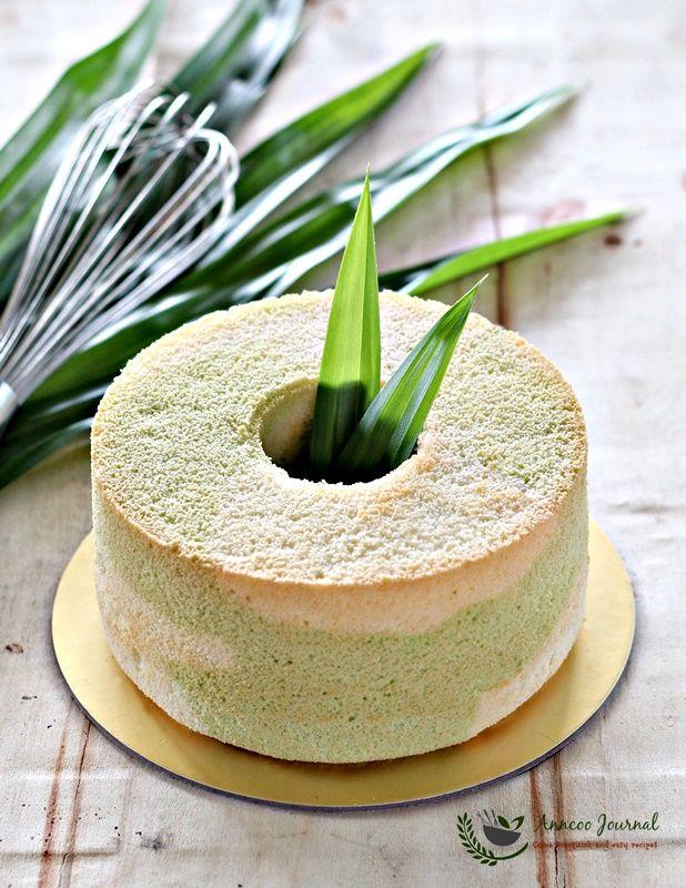 Healthy pandan chiffon cake recipe