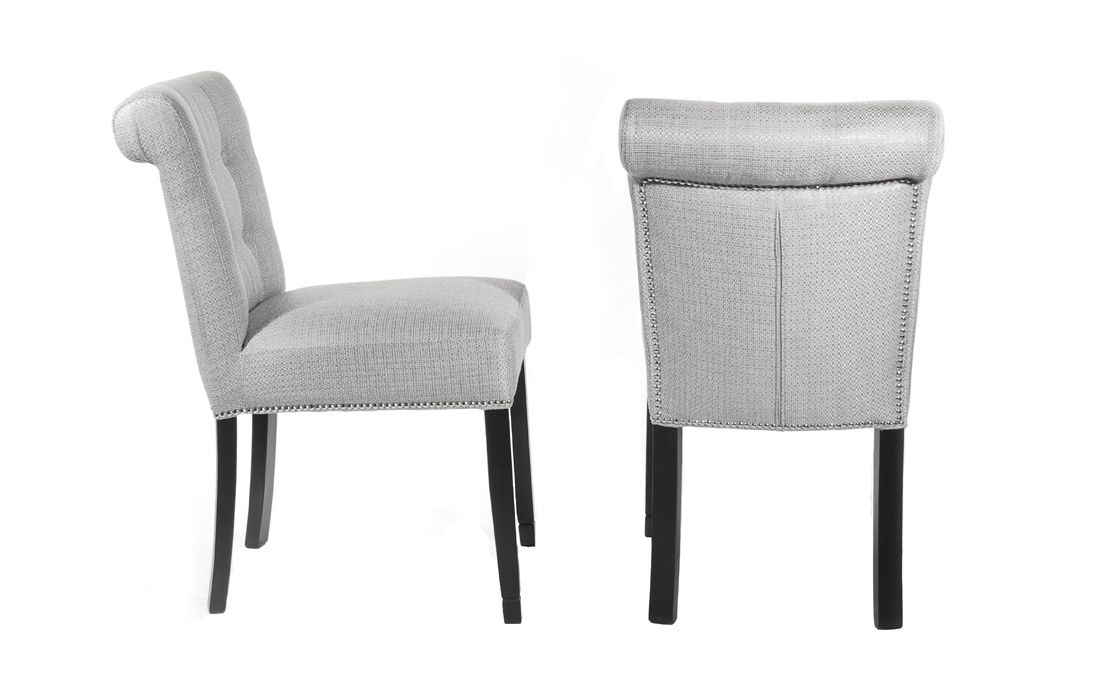 The Silver Chatsworth Chair Looks Great With Our Westbury Dining Table
